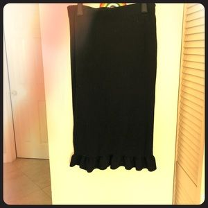 Black ribbed Urban Outfitters skirt